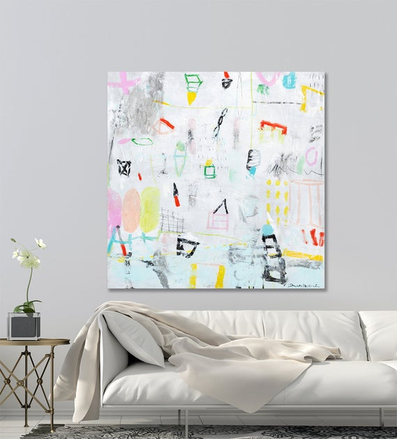Colorful Abstract painting, Large wall art, https://t.co/P3Q0B5i1SI #art&collectibles #painting #acrylic #largecanvasart #abstractpainting https://t.co/2Y9OFf3zyF