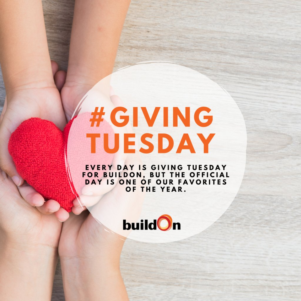 On this #GivingTuesday, we encourage spreading a little extra kindness AND if you want to help keep the giving going all year long, consider making a gift to buildOn on Giving Tuesday.    Check out this list of six great reasons to give