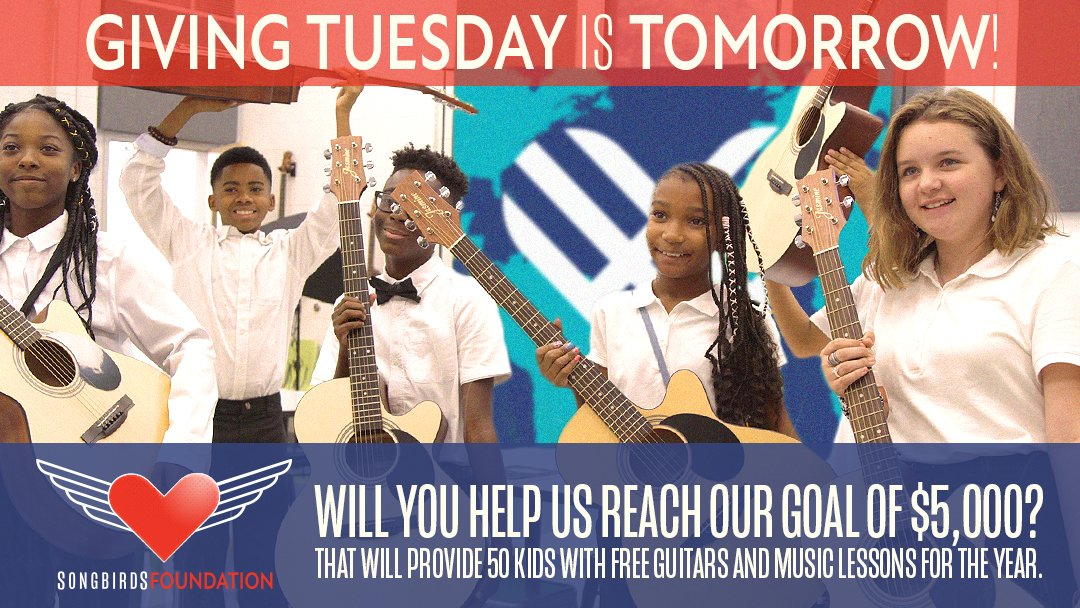 Giving Tuesday is tomorrow! Will you help us give the gift of music this year? #GivingTuesday
