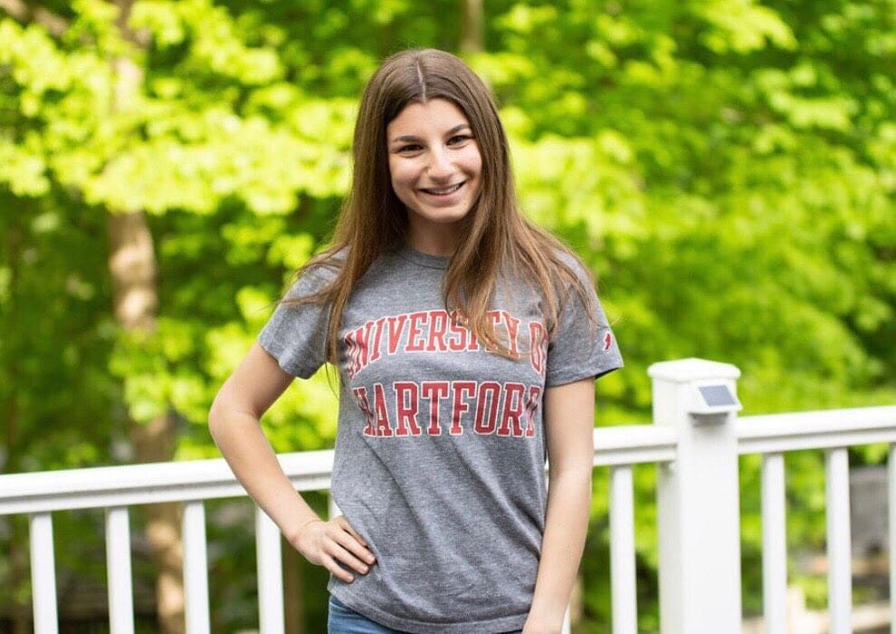 """""""Hillel has been really helpful...I found that home away from home at school."""" –Madeline Blinderman '22. In a time when building community is more important than ever, on this #GivingTuesday, help ensure UHart students have a safe home away from home:"""