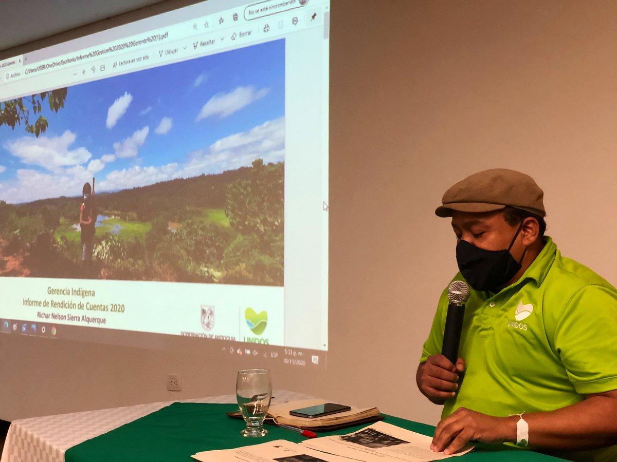 El gerente @RicharSierraA @IndigenaAnt hizo el ejercicio de #Rendicióndecuentas en el espacio de la Mesa de concertación y diálogo de los pueblos indígenas de Antioquia.  @GobAntioquia https://t.co/tE4b8By8sL