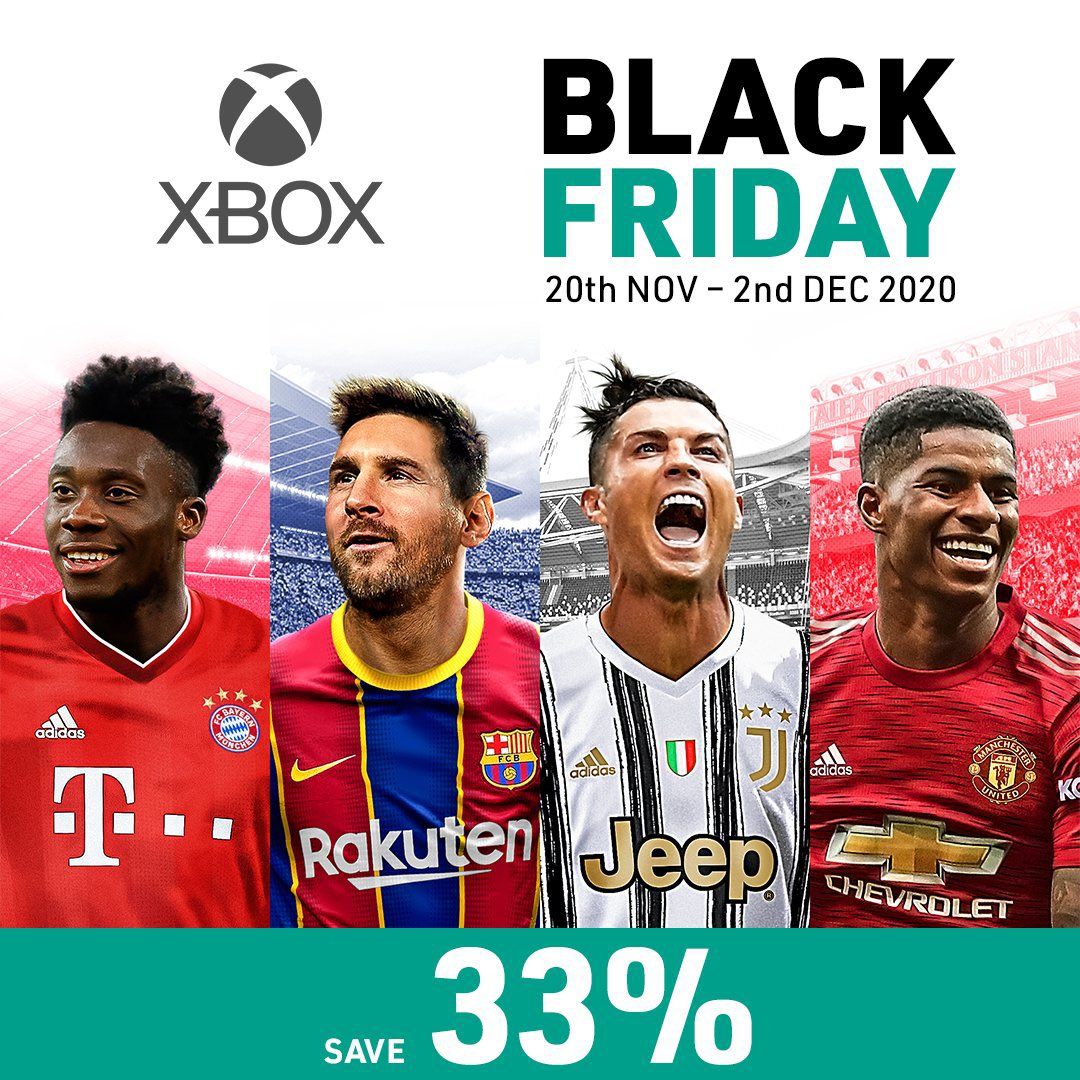 You have two more days to get 33% off #PES2021 during the @Xbox Black Friday sales! 🙌🤩  👉🏼