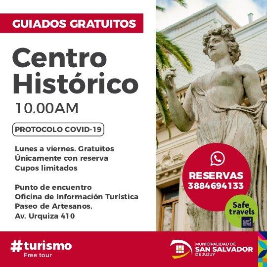 #RedescubriTuCiudad  Te invitamos a recorrer los lugares emblemáticos de San Salvador de Jujuy. Mandanos un mensaje por Whatsapp al 3884694133  Municipalidad de San Salvador de Jujuy   #Turismo #TurismoJujuyiudad #FreeTour #SanSalvadordeJujuy #Tourism #VisitJujuy https://t.co/AC8zmL9Cub