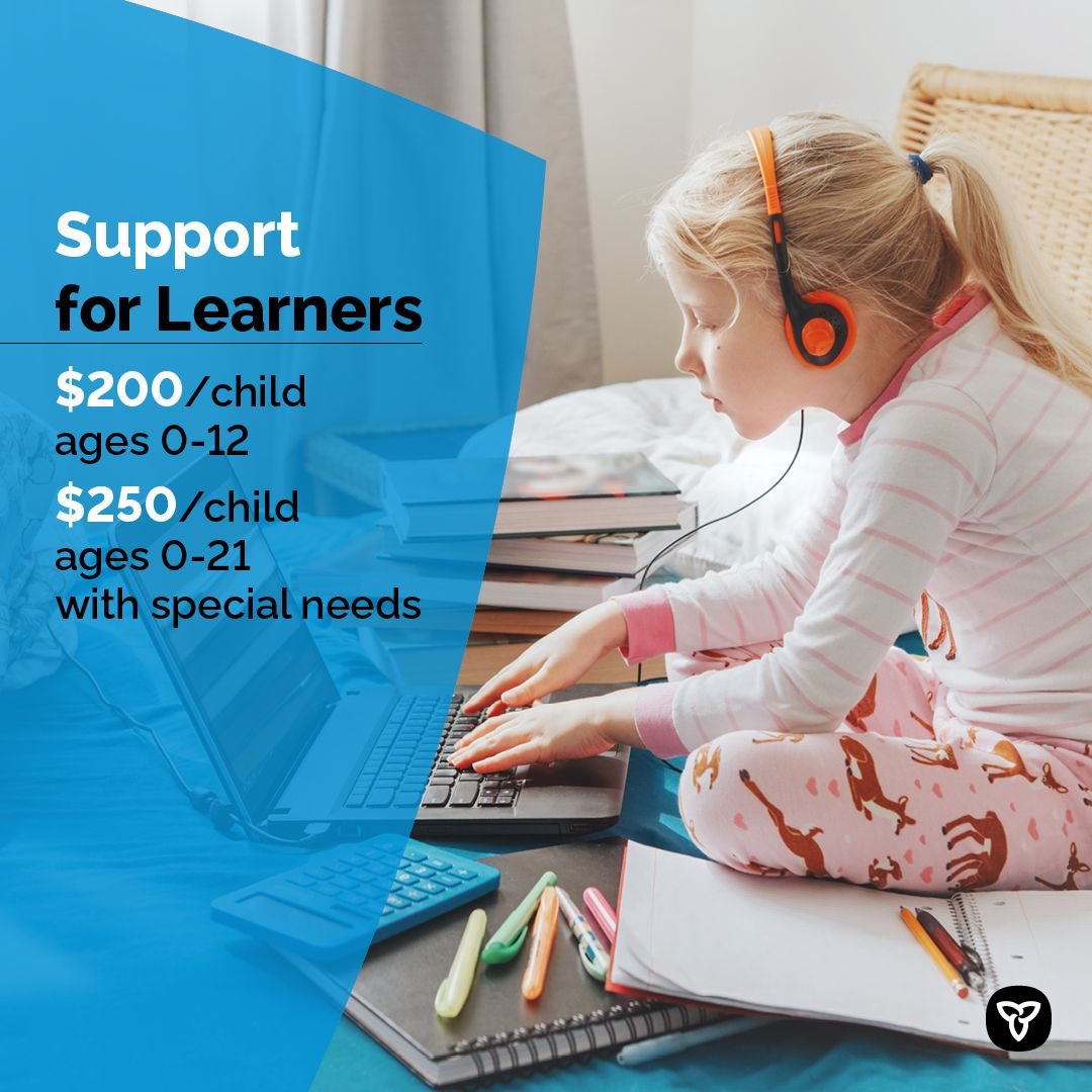 Parents across Ontario have been the unsung heroes of the pandemic. Thats why were providing additional payments to help families with some of the costs of learning and childcare as we battle the second wave of COVID-19. Ontario.ca/SupportForLear…