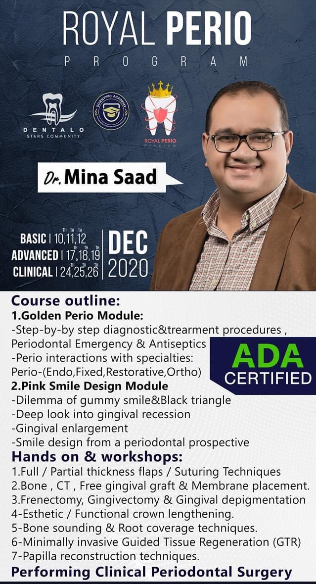 For a less than 3000 le 🔥🔥 Full perio course + clinical case on a patient ! ♥️🔥 DONT MISS !🔥 #alexandria https://t.co/ByN2dq9R9D