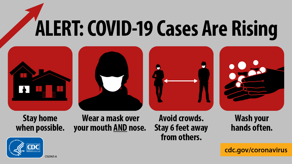 CDC honors and remembers the lives lost to #COVID19. This pandemic is not over and cases continue to rise across the U.S.   Do your part:   #WearAMask over your mouth AND nose.  Stay 6ft from others.  Wash your hands.  Stay home if you can.   Learn more: https://t.co/DmfPOAPMjW. https://t.co/0aspcHegZD