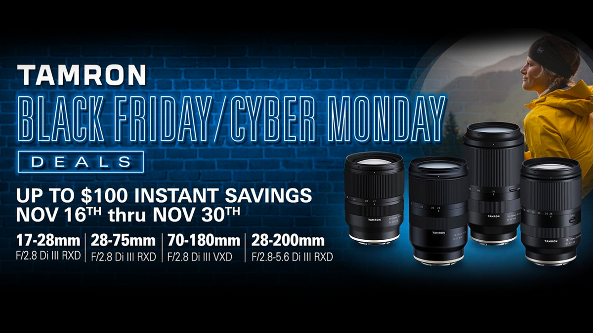 #BlackFriday/#CyberMonday Deals 🔥 Up to $100 Instant Savings on @TamronUSA! #Tamron  Shop Now: