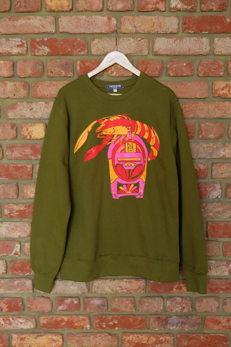 Rock Lobster sweatshirt last call this #cybermonday of the offer of £10 off   Available on Khaki and Charcoal   Sizes XS to 2XL #creativebizhour