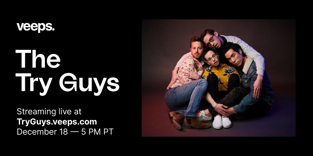 The @TryGuys are premiering their new movie, Behind The Try, on 12/18! Join for exclusive commentary & a behind-the-scenes Q&A. Tickets on sale now.