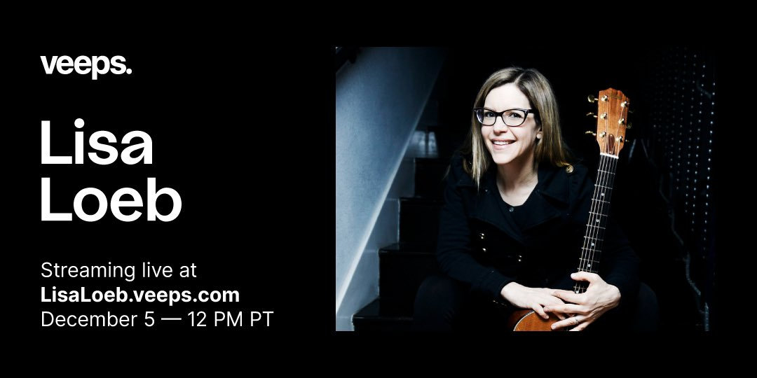On 12/5, Grammy-winning singer-songwriter @LisaLoeb is performing a very special ALL REQUEST SHOW live from her home! Advance tickets and VIP M&G on sale now.