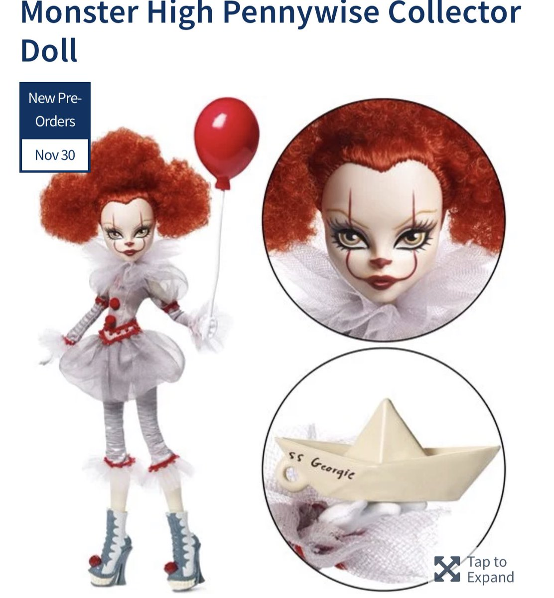 Preorder Now: Monster High Pennywise Collector Doll! #Mattel #Ad .