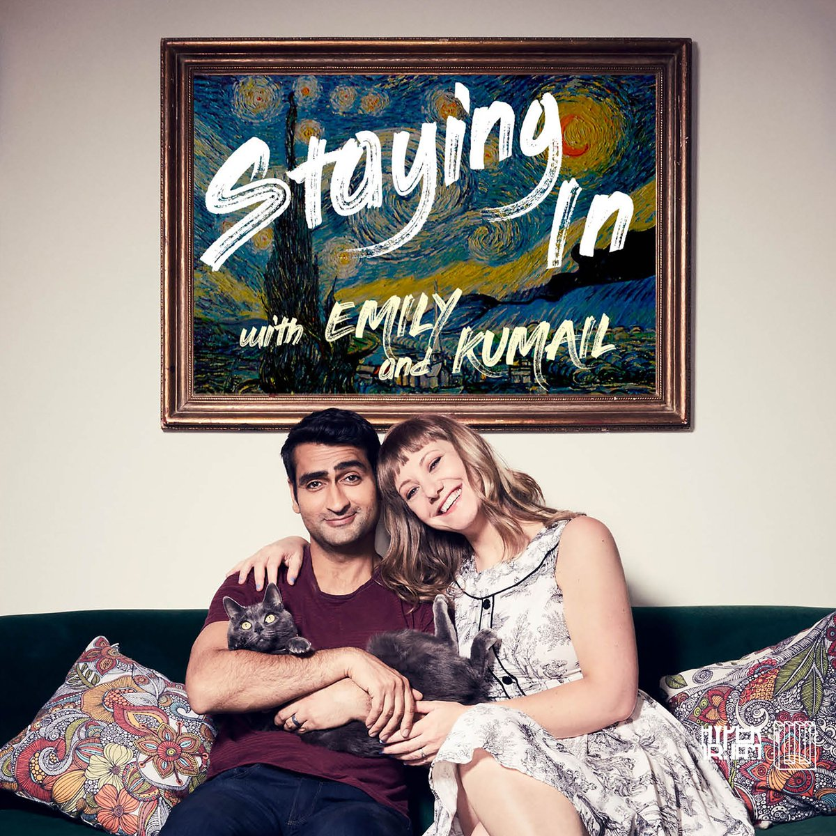 • Staying In With Emily and Kumail   Celebrity couple Emily V. Gordon and Kumail Nanjiani offer excellent advice on how to survive quarantine. The two have an easy comic energy and seem to genuinely like one another as human beings (surprisingly rare on couple-hosted podcasts)
