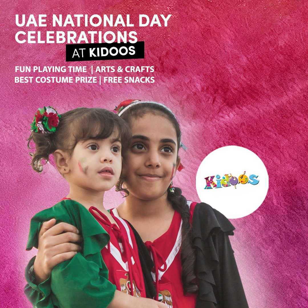 Let the little ones join in the #UAENationalDay celebrations at Kidoos, La Mer!   ⭐️ From #arts & #crafts to prizes for best dressed UAE costume, enjoy all day admission with unlimited #fun for AED 150 only!  #LaMerDubai #FunTimes #Kids #Play #Enjoy #Learn #Activities #Playtime