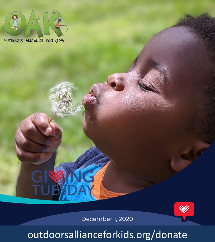 This #GivingTuesday2020, we hope you'll consider making a charitable donation to support our work at the Outdoors Alliance for Kids. Together, we can ensure all children have equitable access to nature. Every bit helps & RTs go a long way, too! Click -->