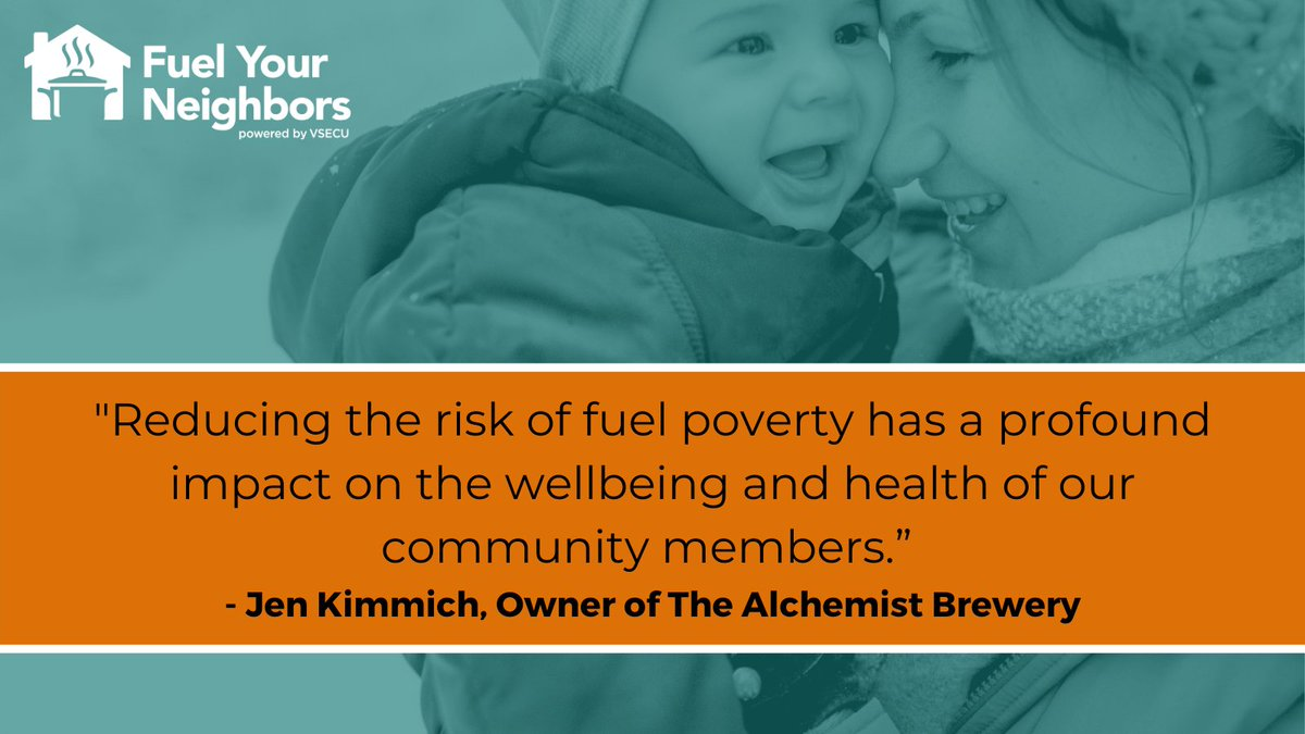 We are so grateful to have @alchemistbeer partner with us again this year on our Fuel Your Neighbors campaign! They're generously matching the first $5,000 raised tomorrow on #GivingTuesday (12/1) for emergency food and heating assistance. Donate at .
