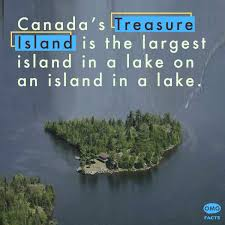 Did You Know? Treasure Island is a large island in Lake Mindemoya, a lake located on the island of Manitoulin which in turn is located in Lake Huron, which makes Treasure Island an island in a lake on an island in a lake. https://t.co/jp6Ogf3sNv