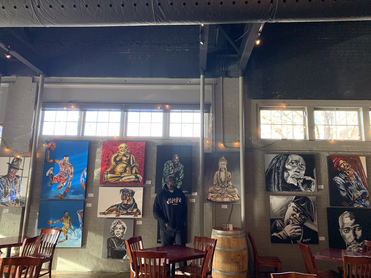 Now hanging on display for the month of December!!! at @RedDragonBrew  Thanks for the opportunity! Nice and spacious inside.  Masks and 6 feet seating enforced!  #leroybrownart #localartist #artexhibition #reddragonbrewery #supportlivingartists #craftbeer #brewery #vetowned https://t.co/np8ionI2bh