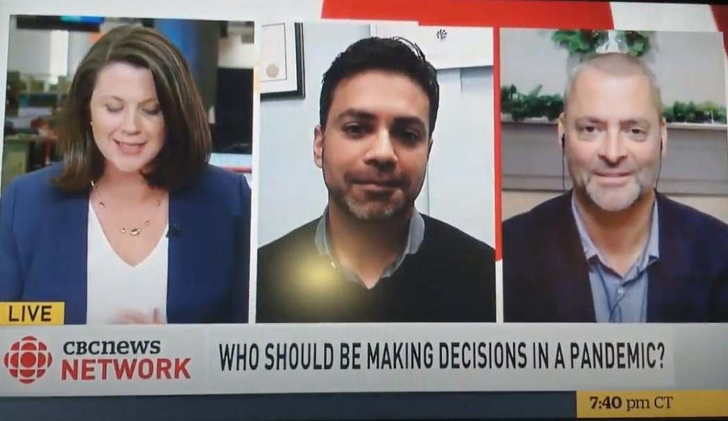 On Friday night, I chatted with @CBCNews about independent public health leadership in emergencies. No surprise, I disagreed with the conservative strategist on the panel.   Their arguments might soundbite well, but they're wrong.  (Thread) #cdnpoli #MedTwitter #COVID19 https://t.co/CYf3b7BOJn
