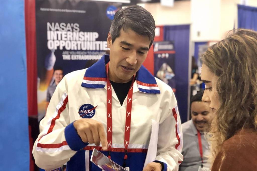 """🚀 🌌 """"Look for the beauty in how things interact with each other."""" """"Always give back to the next generation."""" Join us in celebrating the contributions of Native Americans to our mission of exploration:   #NativeAmericanHeritageMonth"""