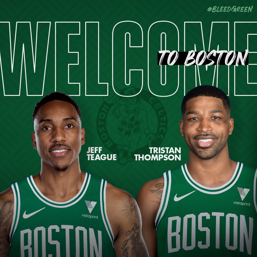 Welcome to Boston @Teague0 and @RealTristan13 ☘️☘️  📝: https://t.co/GVlyJMriL7 https://t.co/439TtgYQ1K
