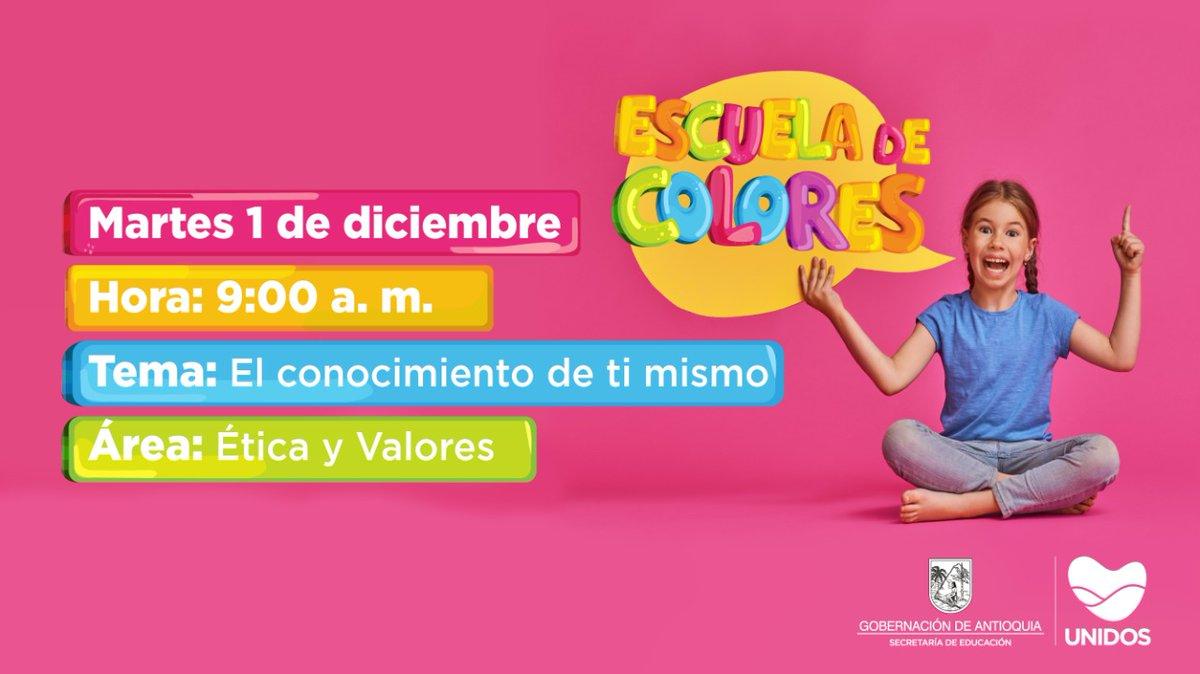 Te esperamos mañana en la #EscuelaDeColores con una nueva clase llena de diversión.   📻 Conéctate desde las 9:00 a.m. por la emisora de tu municipio. https://t.co/fF64Xlk9Nd