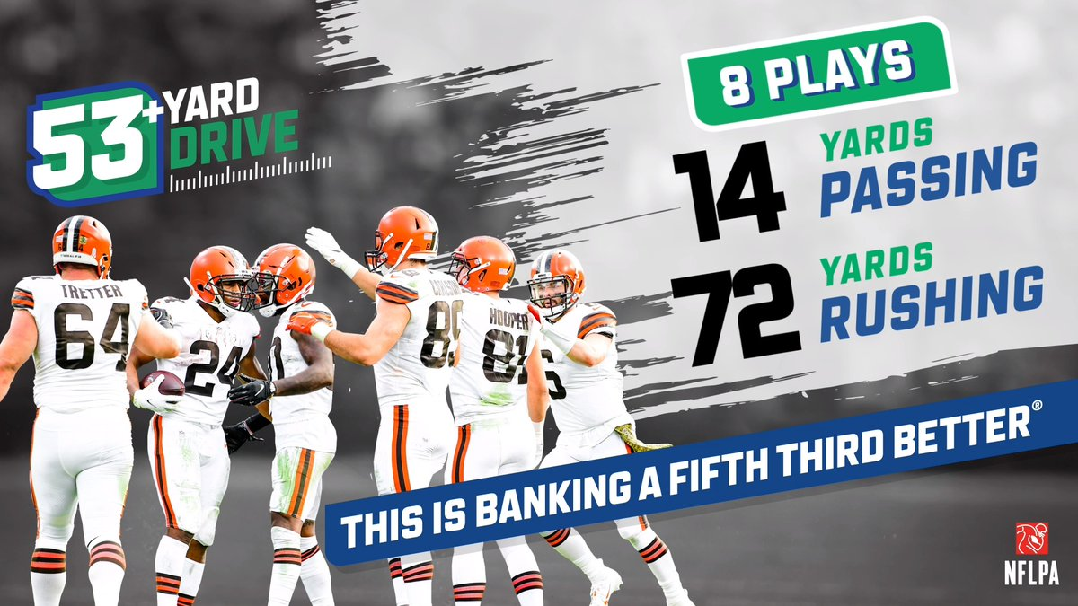 Getting pinned inside our own ten-yard line? No problem 🤷♂️   The rushing attack helped us march downfield in this week's @FifthThird 53+ yard drive #53Better  ➡️