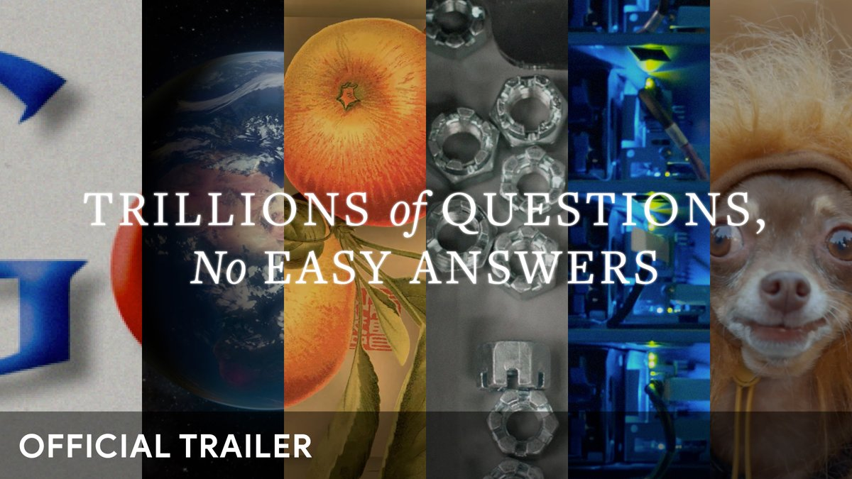 If you've ever wondered how Search works 🔎, or what goes on behind the scenes 🤔,  don't miss our first ever (home) movie 📹, Trillions of Questions, No Easy Answers, now streaming on YouTube →  #SearchMovie