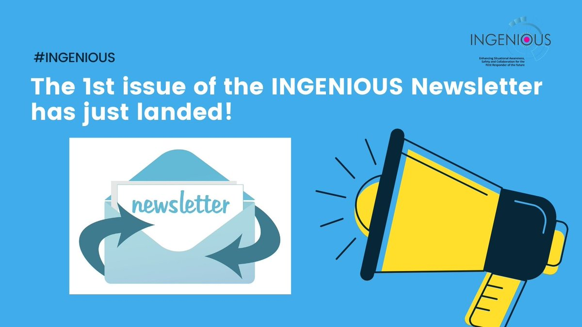 Our sister project @INGENIOUS_EU has also just released their first newsletter!  See theirs below and ours here: https://t.co/Gre7GhIswL  #news #searchandrescue #H2020