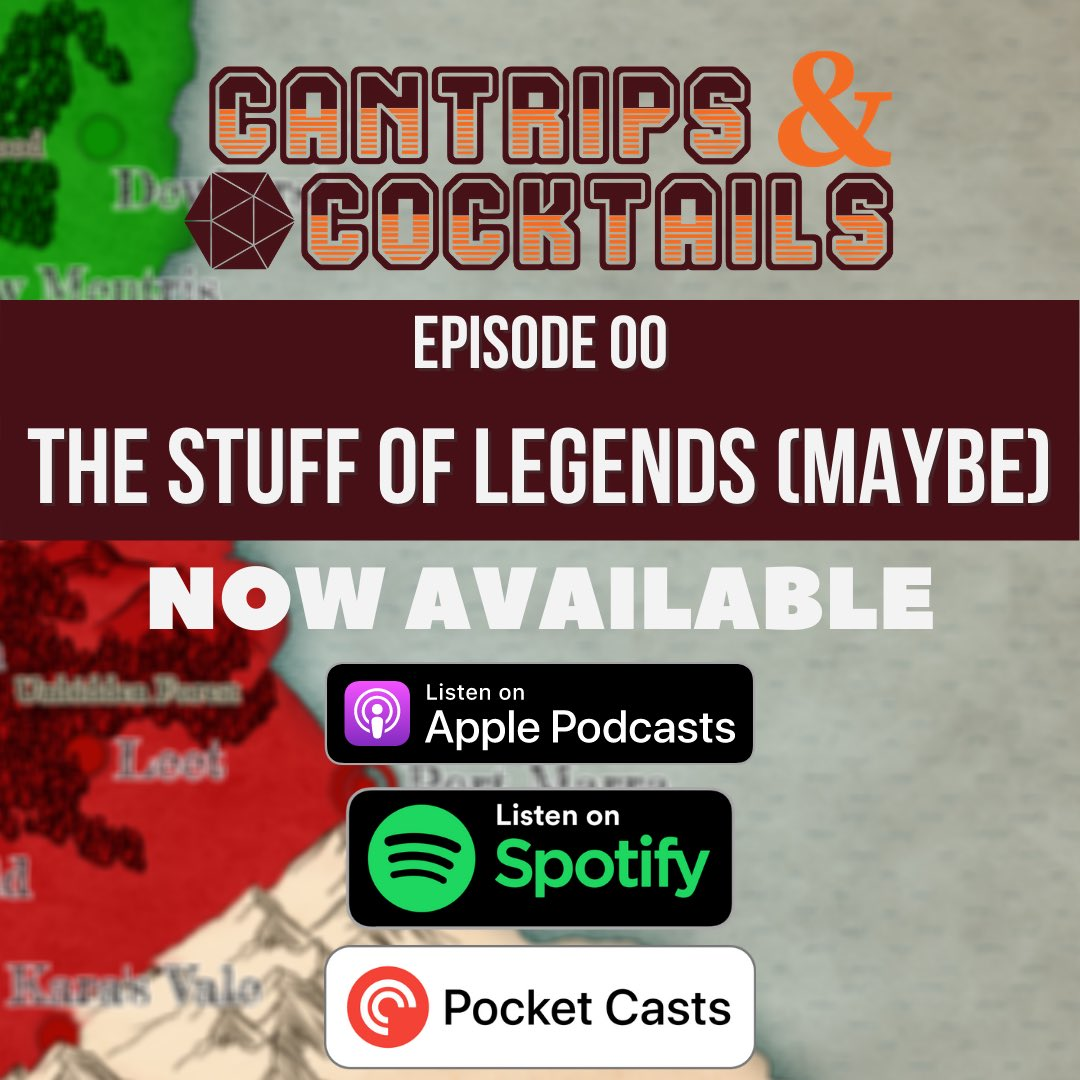 Our premiere episode is now available on Apple Podcasts, Spotify, and Pocket Casts! Give a it a listen and let us know what you think!  Additional podcast services will be available in the coming weeks so keep your eyes open. We hope you enjoy this story half as much as we do. https://t.co/v89krA1efr