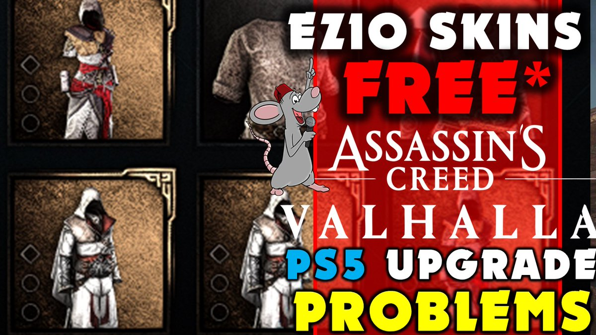 Jade PG - Assassins Creed Valhalla FREE Helix Store HACK! Ezio Leak! PS5 Upgrade Issues and @FenyxRising hype!  via @YouTube