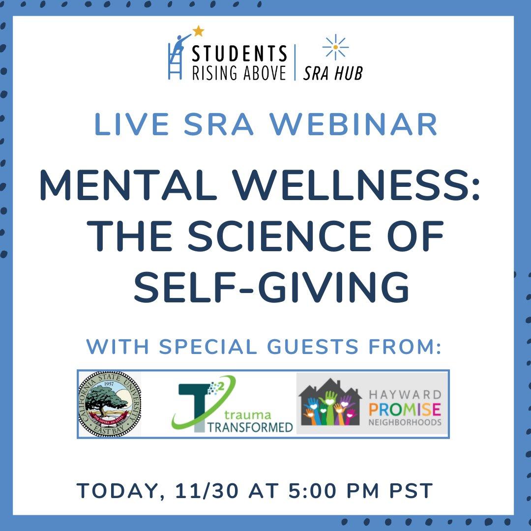 SRA Wellness Webinar today at 5 PM!  Register Here: https://t.co/A2IXekFLoe https://t.co/MbpEeCd2il