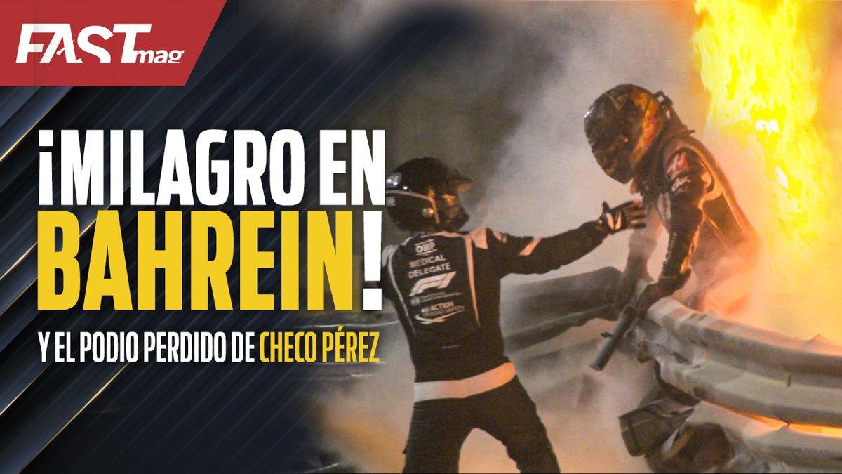¡MILAGRO EN BAHREIN!  El accidente de #RomainGrosjean y el podio perdido de #ChecoPérez se robaron los titulares del #BahrainGP de #F1.  @scuderiargz, @elzurdojalife, @ojalife y @EOlmos analizan lo qué pasó ayer domingo en el #MotorSapiens de hoy.  https://t.co/rvg9owVA6F https://t.co/2ruopWpiRK