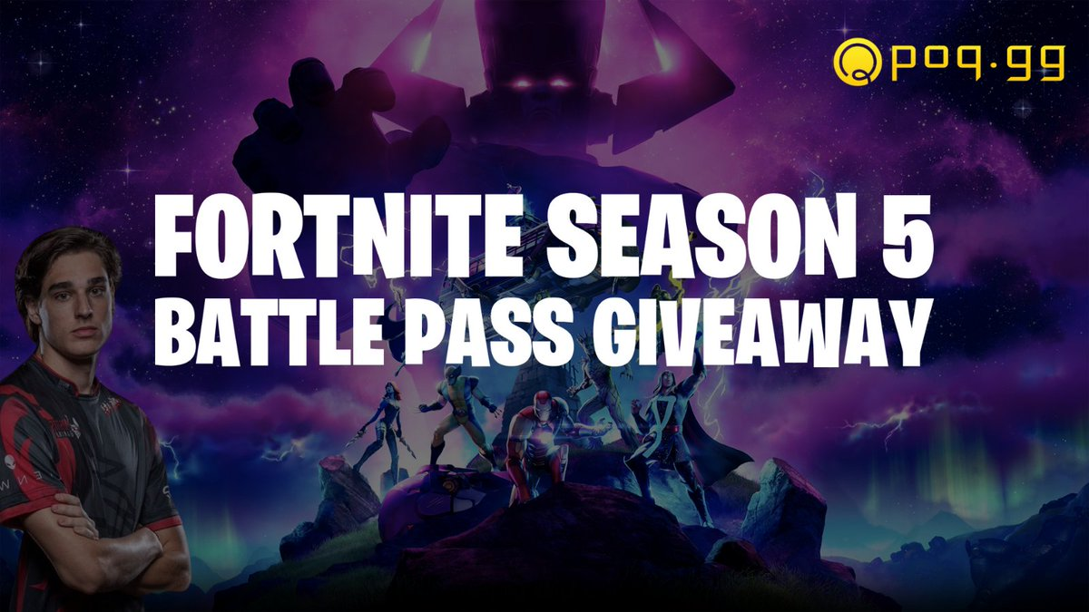 FORTNITE SEASON 5 BATTLE PASS GIVEAWAY  Winner decided in 24 hours!  How to enter: 👉 Follow @Surfnboy & @POQesports  👉 Like & Retweet 👉 Tag 2 Friends  #Fortnite #FortniteSeason5 #Season5 #BattlePass #FortniteGiveaway #BattlePassGiveaway