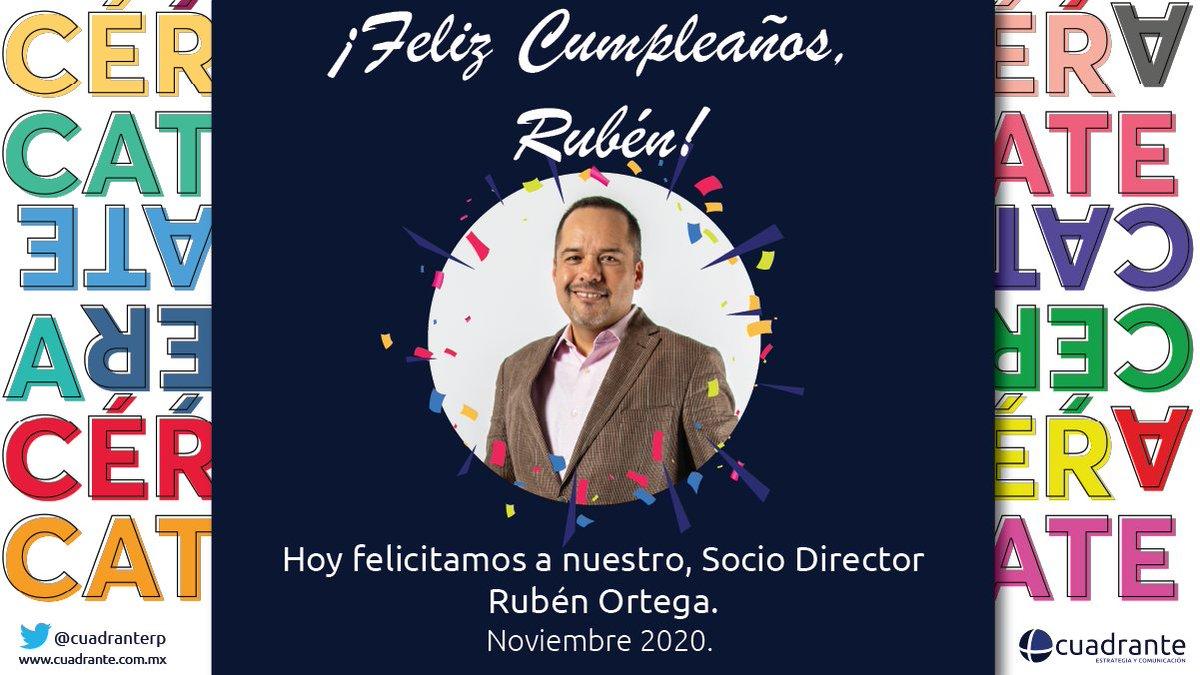 Muchas felicidades a nuestro socio director, Rubén Ortega (@RubenOA).  #OrgulloCuadrante https://t.co/OJ9kHEKhav