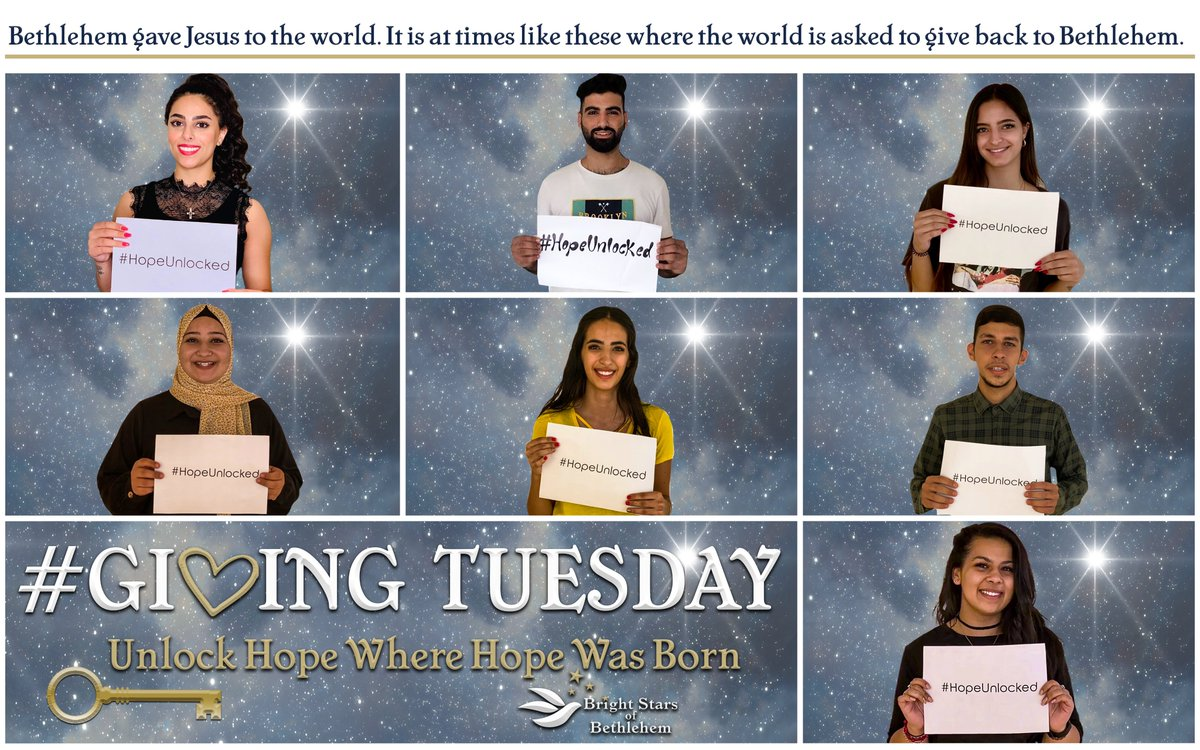 Donate here to #UnlockHope in Palestine:   #GivingTuesday #Donate #Give #Palestine #Bethlehem #Gaza #Hope #Vision #HopeUnlocked #BeTheKey #BrightStarsOfBethlehem #MiddleEast #Opportunity