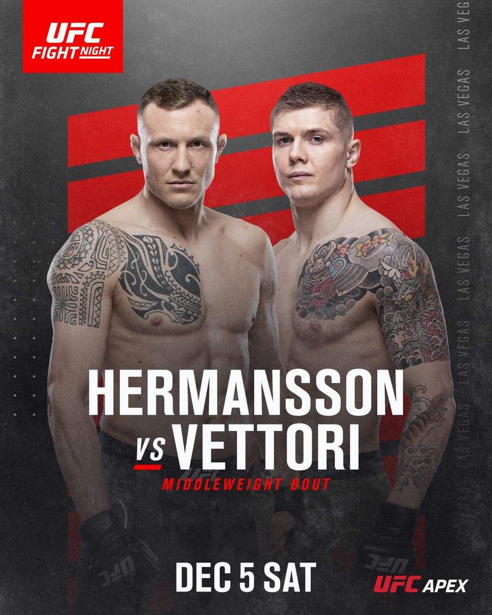 The fight is on 5th December @jackthejokermma vs @MarvinVettori live @ufc #fightnight @UFCEurope #UFCApex 💯💥🔥  @ufc @danawhite @shootsportsish @VisGlobalMedia @LowKick_MMA @OnPointMMA #UFC #MMA #boxing #submissions #Mixedmartialarts #kickboxing #bjj #JiuJitsu #blackbelt #UFC https://t.co/NhWHtP2DZ3