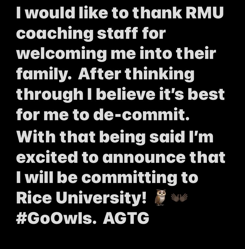 COMMITTED 🦉👐🏿 AGTG #RFND #GoOwls