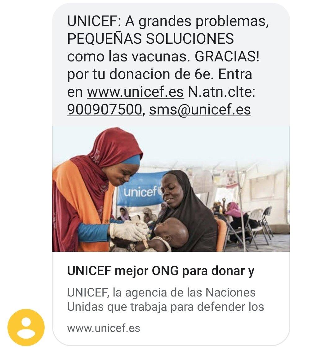 No lo puedo evitar, se me parte el alma con estas cosas... Así que aquí mi donación para ayudar a salvar las vidas de esos niños 🙏🏼❤️ @unicef_es #UNICEF #PequeñasSoluciones #UnMinutoDeTuVida #solidaridad