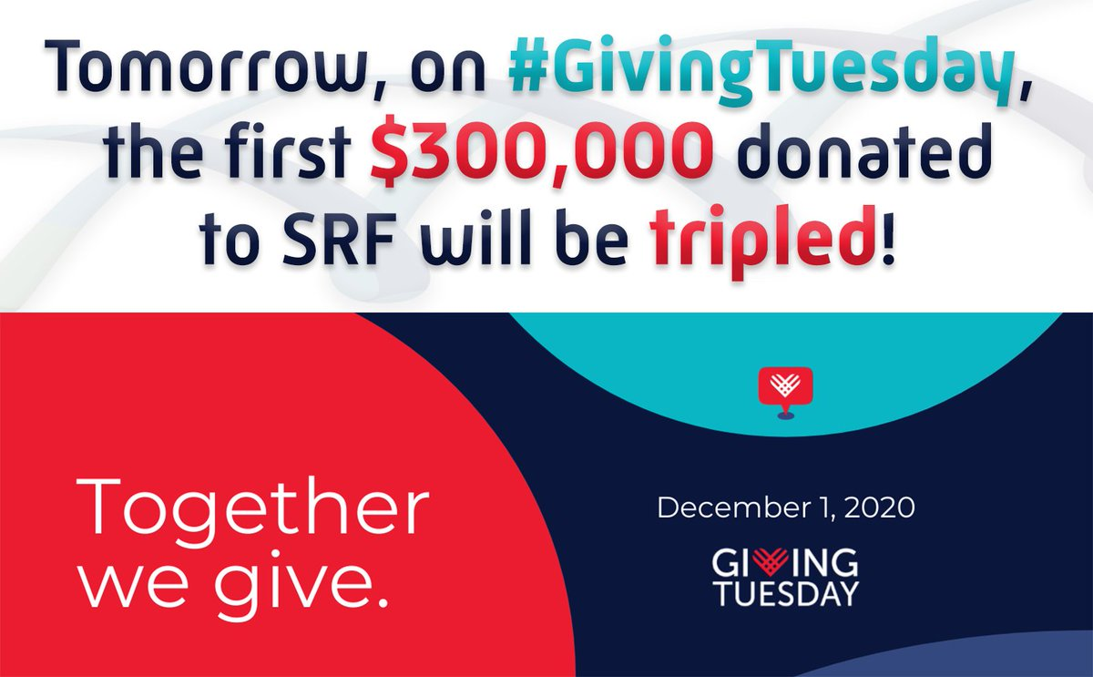 Tomorrow is #GivingTuesday! GivingTuesday is a global generosity movement which started in 2012 with the goal to unleash the power of people (like you!) and organizations (like us!) to transform their communities and the world.  Learn more and donate at: