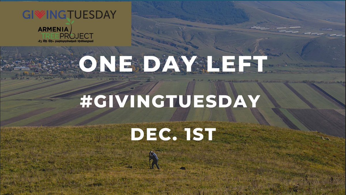 ONE DAY LEFT!  Help us achieve our #GivingTuesday goal by donating to our FB Fundraiser!
