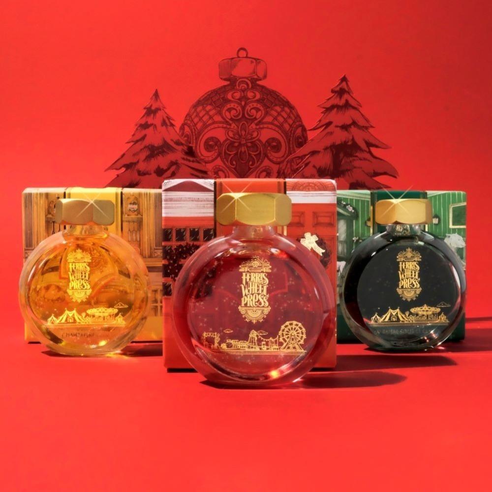 """""""香水のようなインク""""に赤いベリー・シャンパン・針葉樹をイメージした冬限定色、銀座 蔦屋書店で販売 -"""