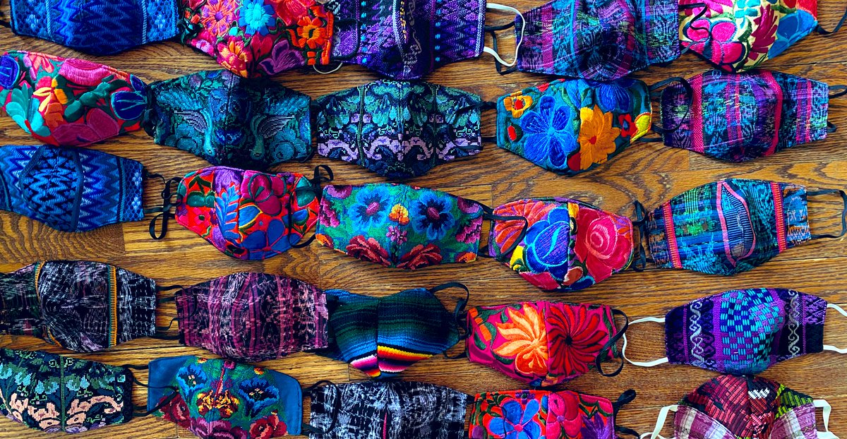 Tomorrow is #GivingTuesday. Donate to UAF and we will send you one of these beautiful masks made by a women's cooperative in #Guatemala. Just include your name and address in the note section of the Pay Pal link. Suggested donation- $25.00