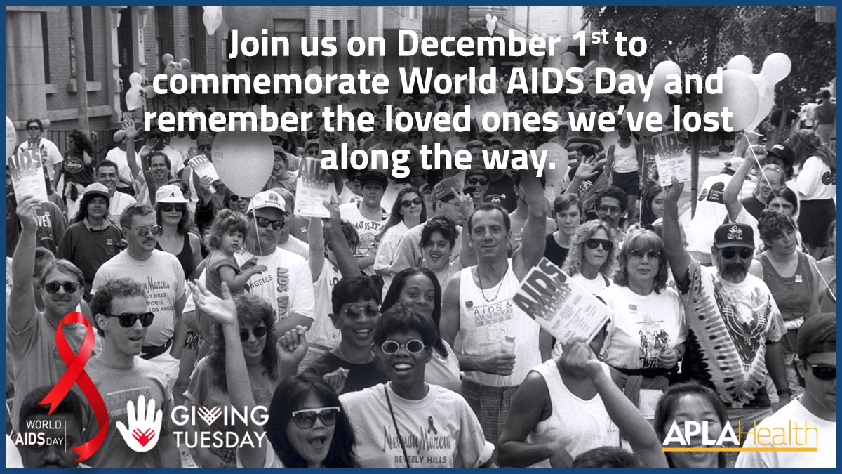 #WorldAIDSDay is about honoring loved ones we've lost, standing up for millions living with HIV/AIDS, & focusing on ending the epidemic through advances in treatment & care. 🩺💪  #GivingTuesday is also on December 1st, so help us give back this year!