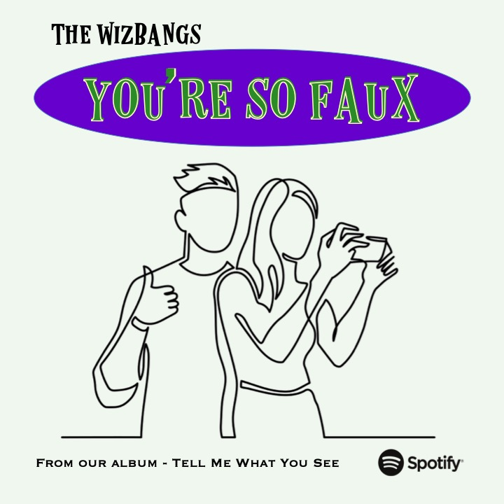 Social media: truth or fiction? Our song - 'You're So Faux' - explores. #Fake #SocialMedia #RockAndRoll  Here on @Spotify 👇 https://t.co/sAjgsER5pv https://t.co/gm5qWwEE5f