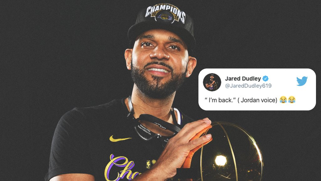 Jared Dudley is back Lakers fans 😅 https://t.co/VWVxgoVQOc