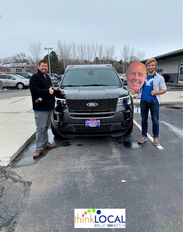 Welcome to the #JayMaloneMotors family!! Enjoy your #Ford #Explorer and thank you for choosing us! #dlr4life #MuchInHutch  Our #SalesDepartment is open by appointment only! View all of our inventory at https://t.co/Jy5dPscRuQ https://t.co/6ZZuBwqVOx