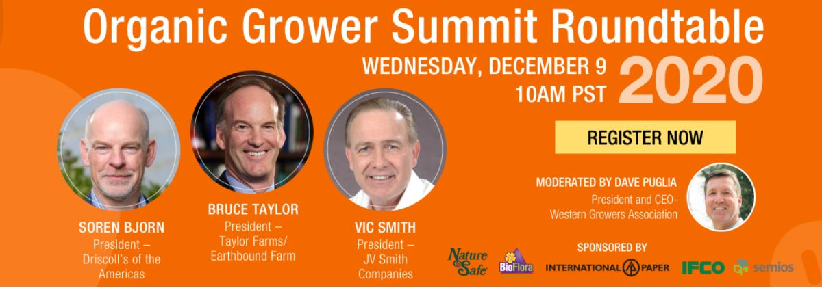 Join us for the Organic Grower Summit Roundtable 2020 -- December 9 at 10am. Details: wga.com/blog/dave-pugl…
