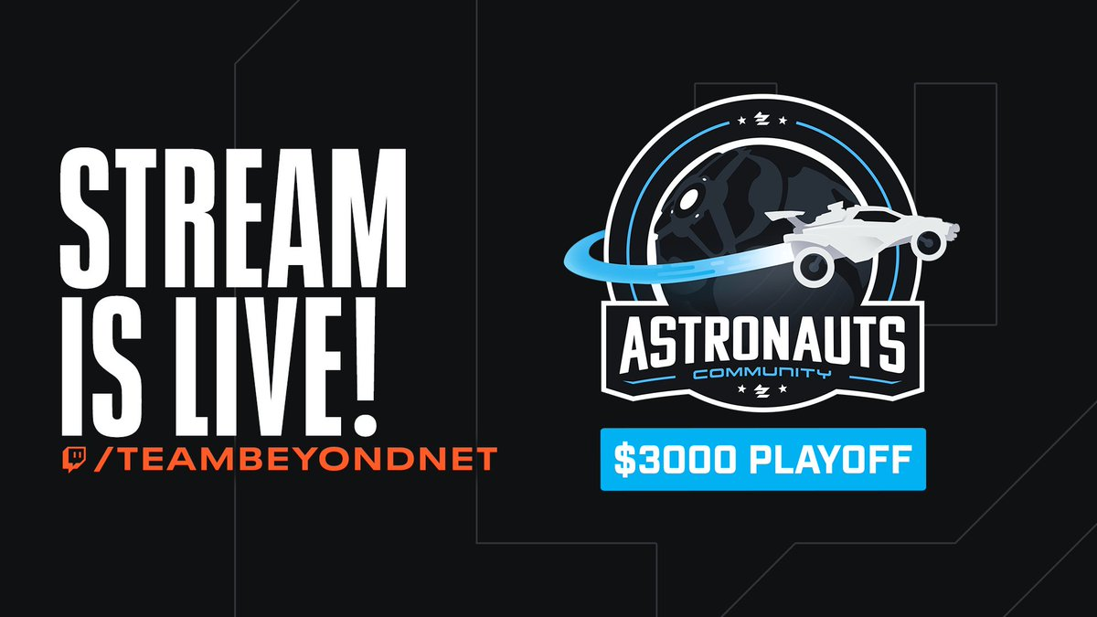 Now LIVE on @Twitch, watch the #ASTRONAUTS 1v1 Ladder Playoffs!  🏆 8 Players -> 1 Champion 💰 $3,000 Grand Prize  Tune in now for more @RocketLeague powered by @ASTROGaming!
