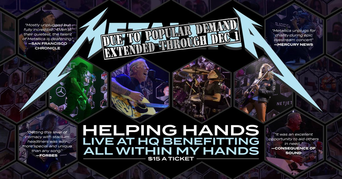 If you haven't already, this is your last chance to get the #HelpingHands2020 concert stream! Ticket sales support #AWMH & close tonight at 11:59 PM PST. Visit  to watch the show or  to contribute to our #GivingTuesday fundraiser.