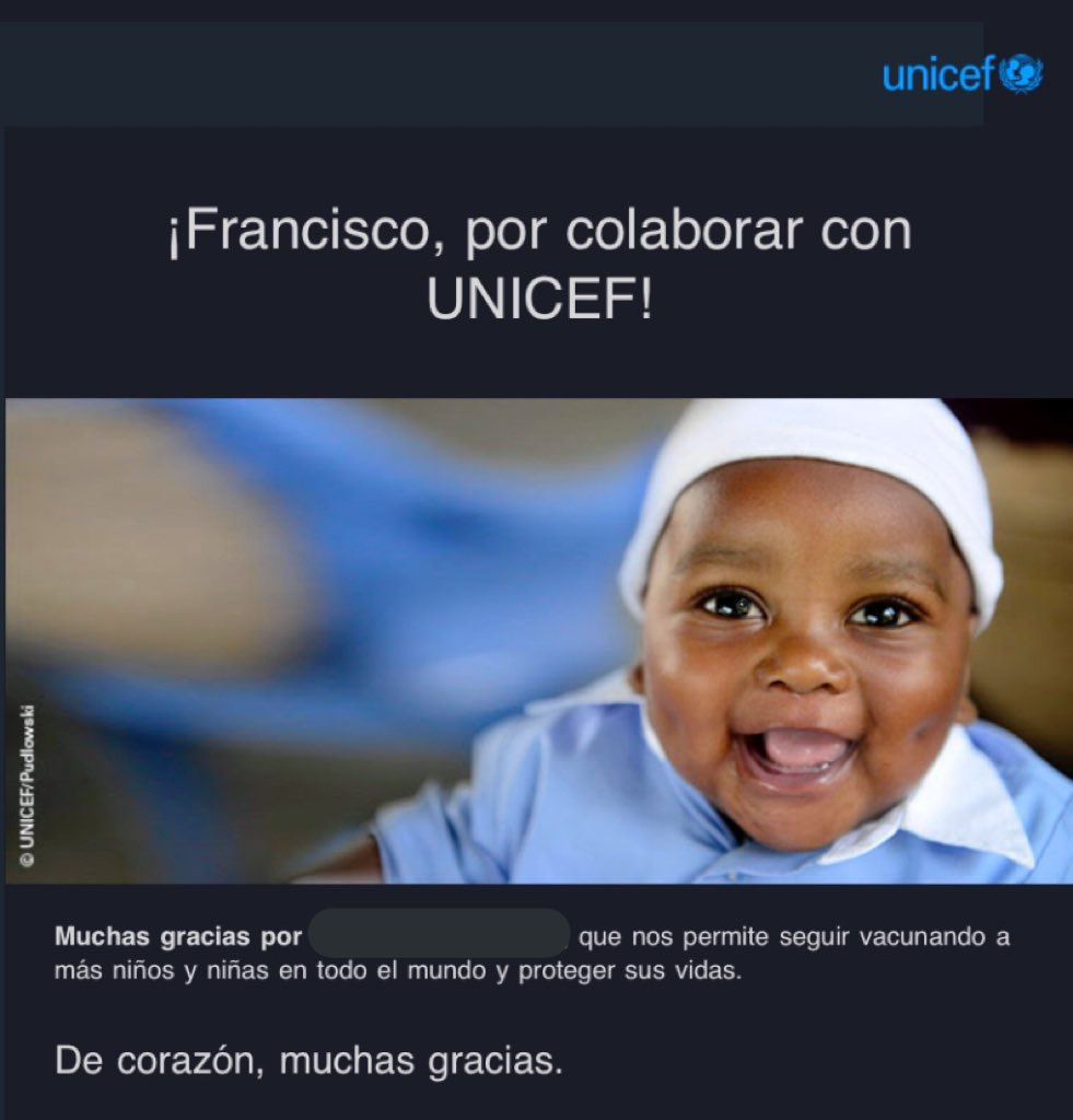 Me voy a la cama muy contento de haber puesto mi granito de arena para que 57.038 niños y niñas puedan ser inmunizados 💉   #UnMinutoDeTuVida #PequenasSoluciones  @uadtv @UNICEFAndalucia